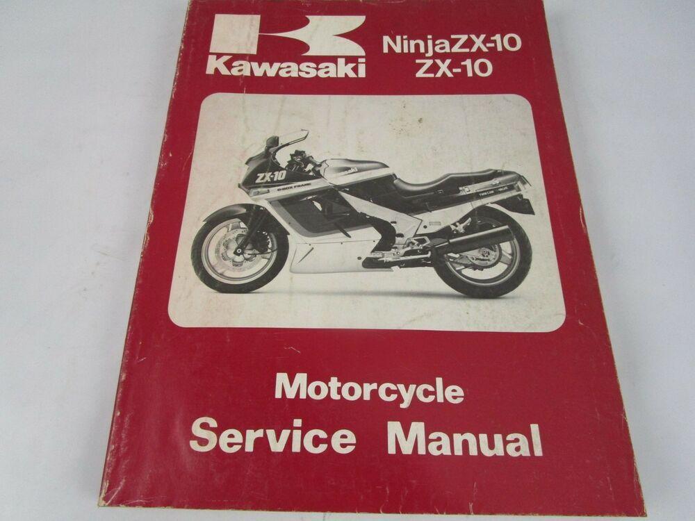 Advertisement Ebay 1988 Kawasaki Ninja Zx 10 Zx10 Service Repair Manual Ninja 1000 With Images Motorcycle Parts And Accessories Kawasaki Motorcycles Ninja Repair Manuals