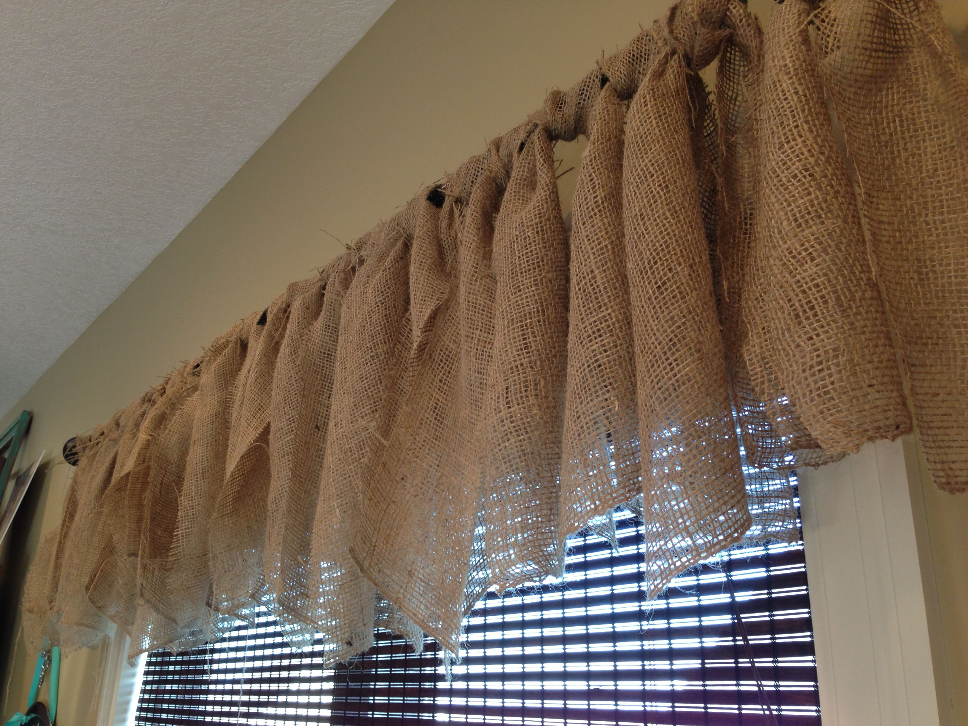 Burlap Curtains In My Dining Roommy Favorite Inexpensive