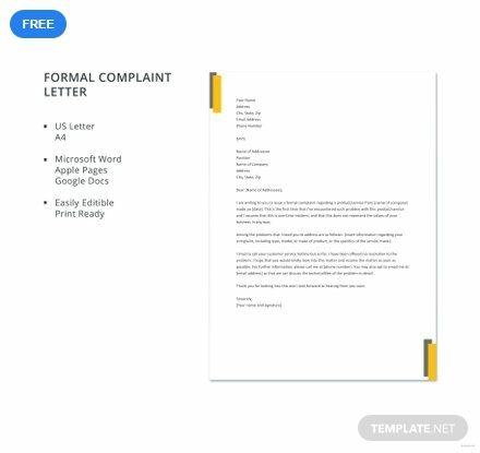 Free Formal Complaint Letter in 2019 | Dulciuri | Letter