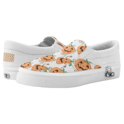 #Halloween Pumkins Slip-On Sneakers - #Halloween #happyhalloween #festival #party #holiday