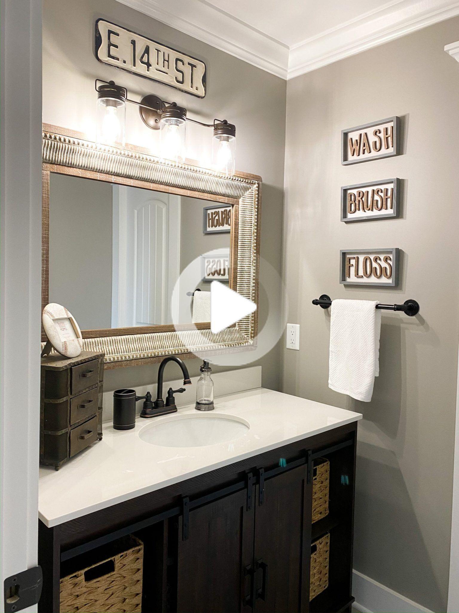 Little Boy S Bathroom Reveal Little Boy Bathroom Boys Bathroom Decor Boys Bathroom