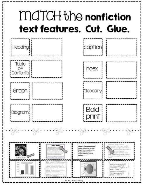 17+ Text And Graphic Features Worksheets 2Nd Grade in 2020