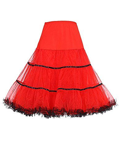 Sisjuly Women's Vintage Rockabilly Net Petticoat Skirt Tu...