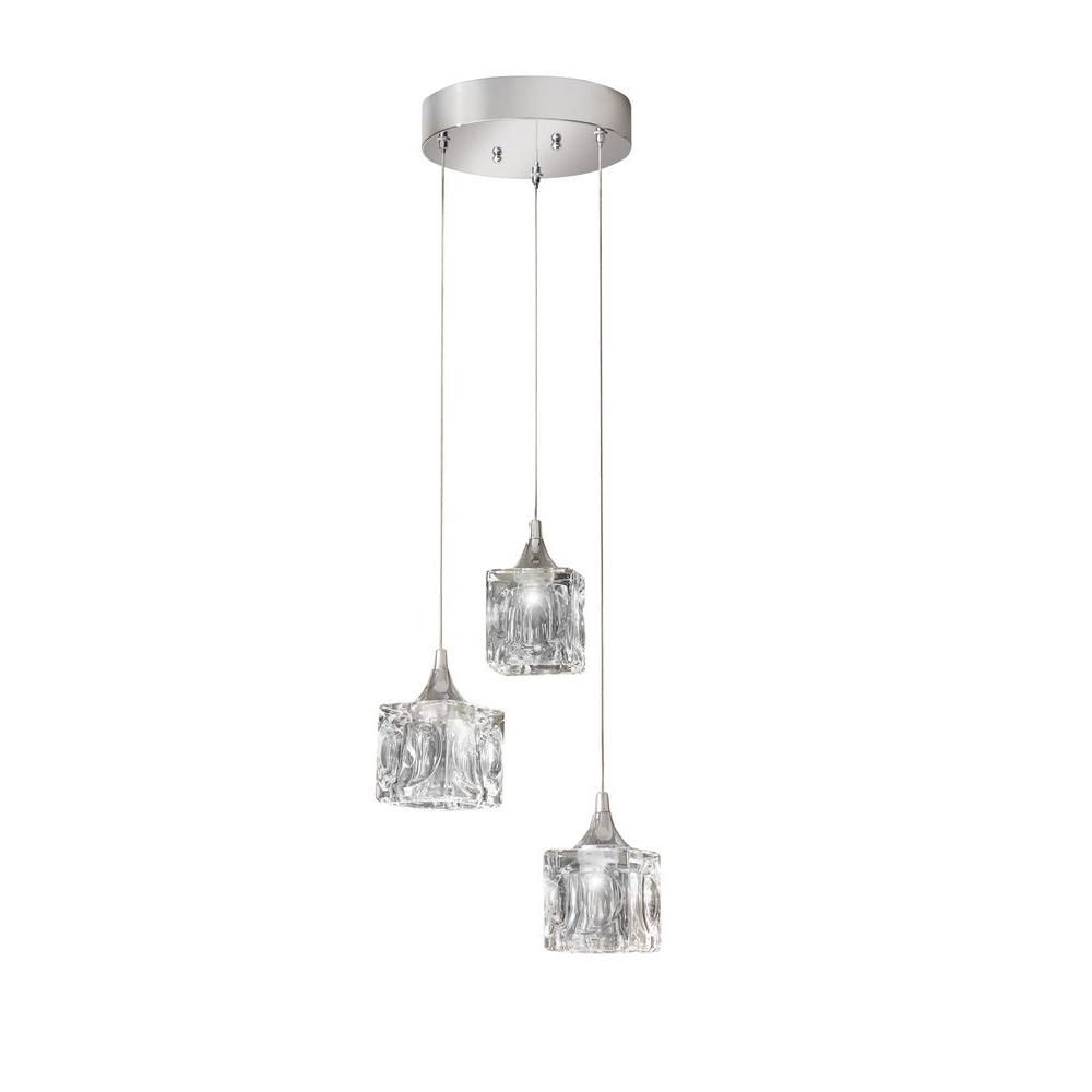 Home Decorators Collection 3 Light Polished Chrome Led