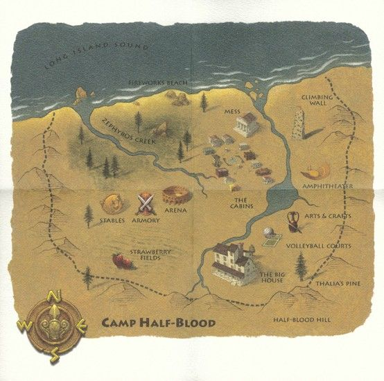 This Is A Map Of Camp HalfBlood From The Percy Jackson