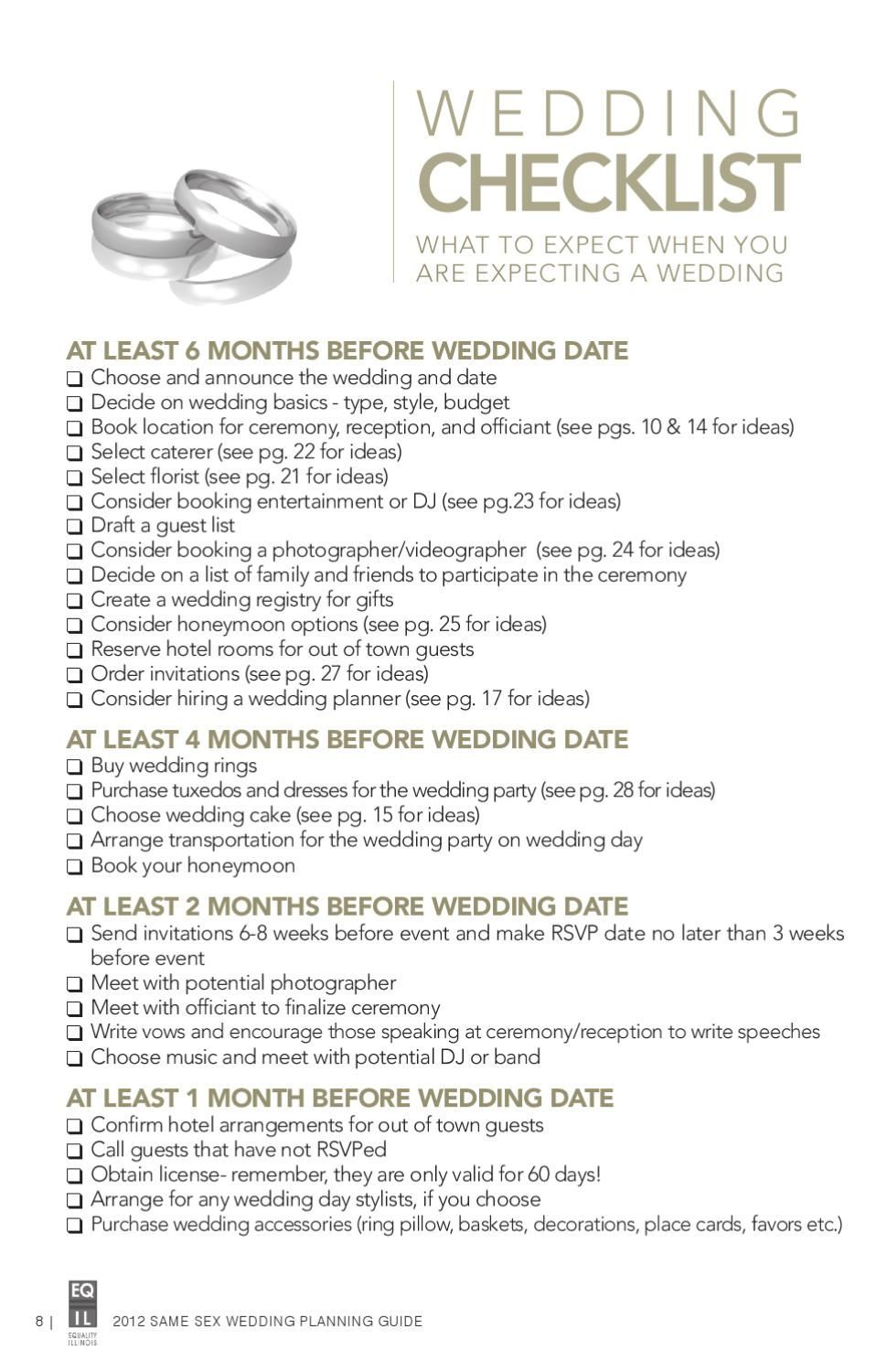 Issuu Same Wedding Planning Guide By Equality Illinois
