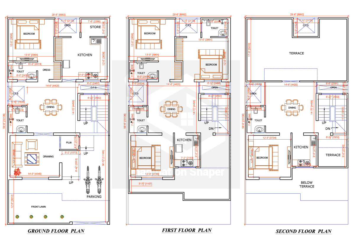 30x60 House Map House Map Architectural House Plans House Layout Plans