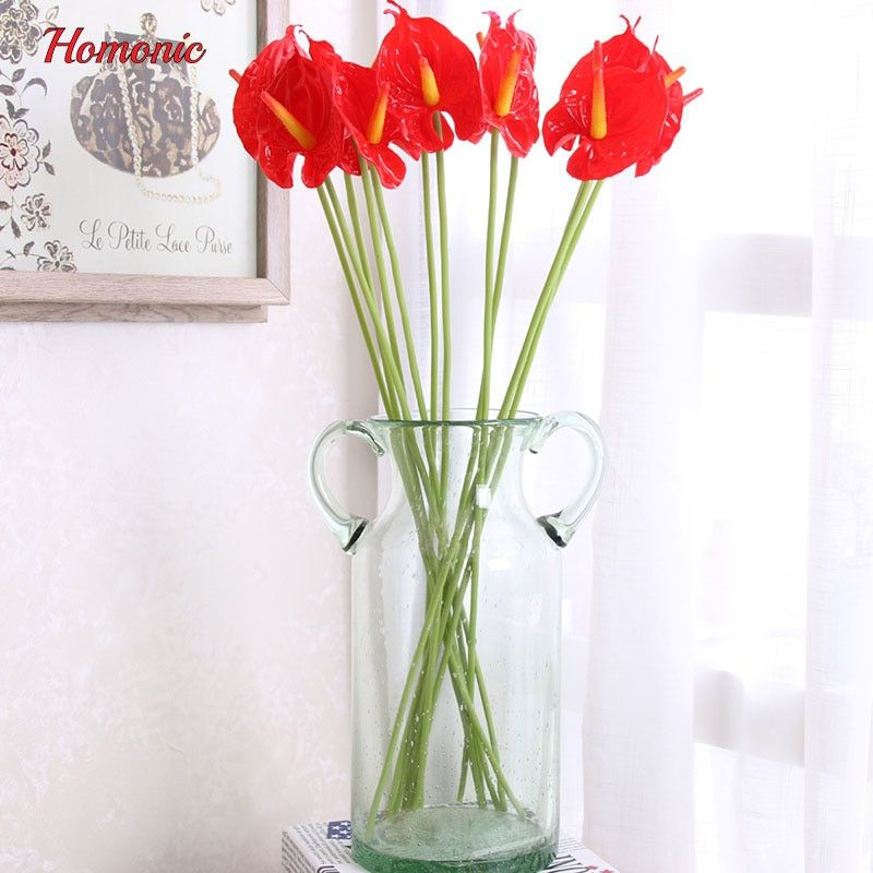 Cheap Artificial Dried Flowers Buy Directly From China Suppliers 12 Pcs Lot Artificial Flower Fake Real Anthurium Bouquet Fake Flowers Wedding Arrangements