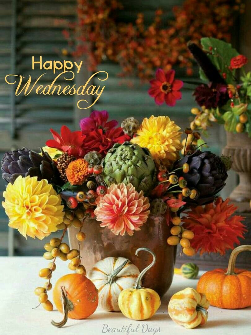 Happy Wednesday! | Autumn decorating, Fall decor, Autumn ...