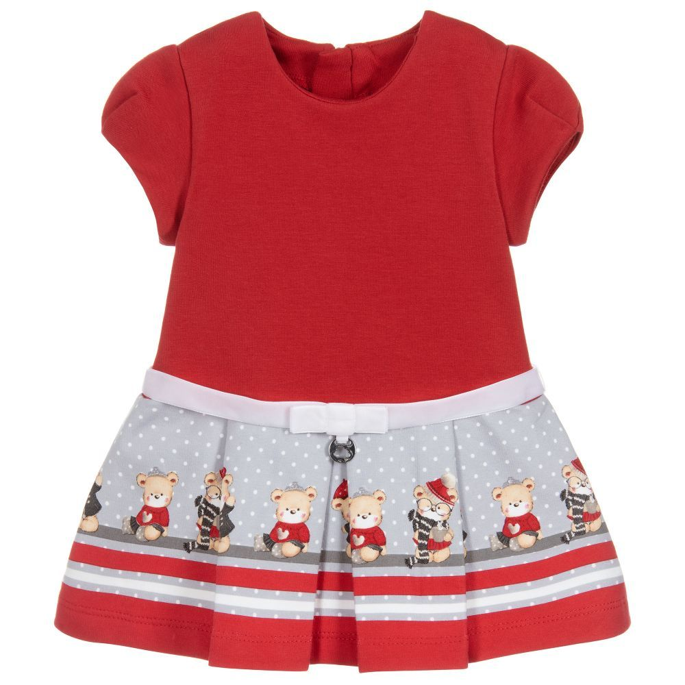 13b3f0c9adda Mayoral Girls Red Cotton Jersey Dress at Childrensalon.com