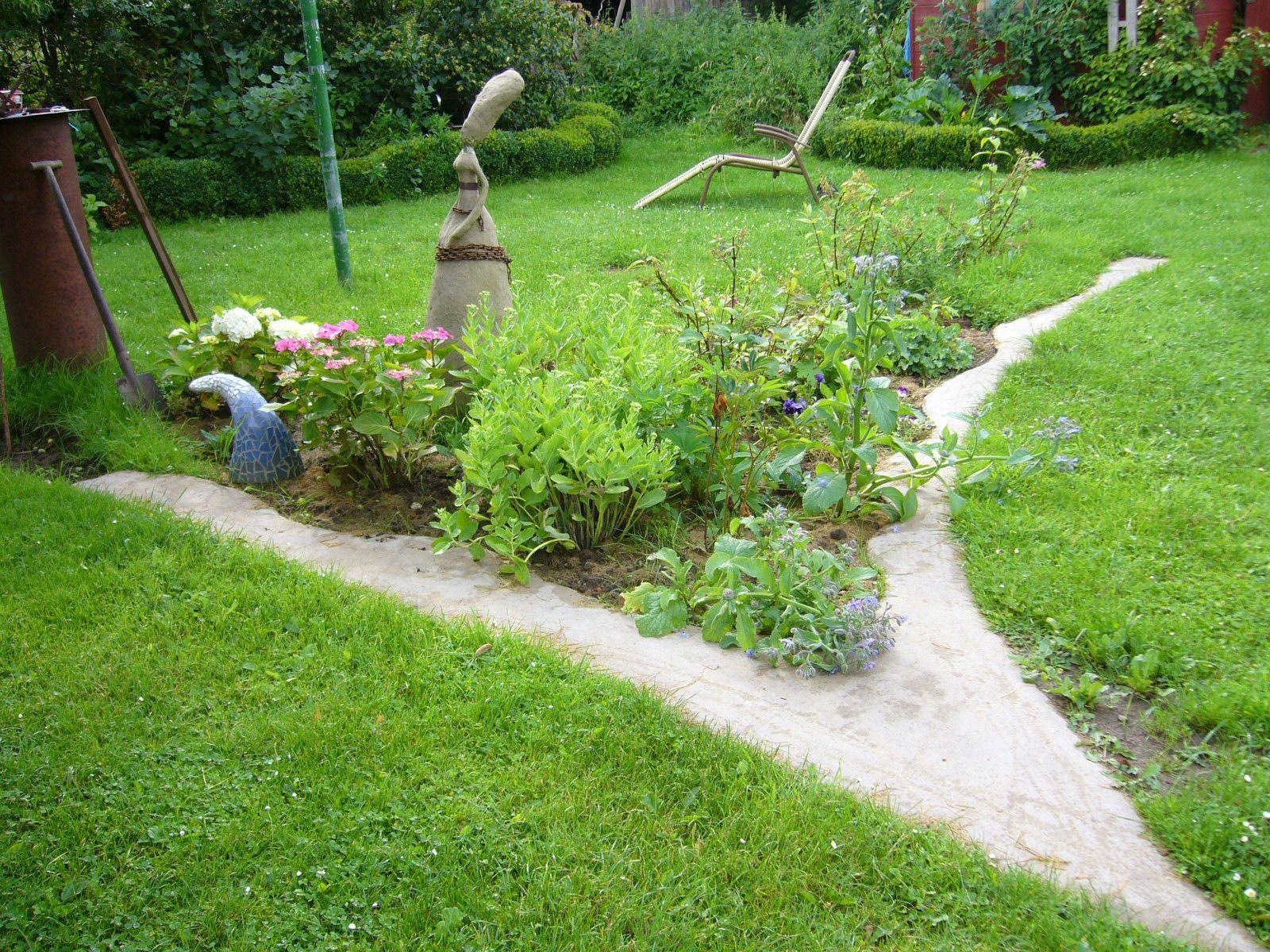 Beetbegrenzung Aus Beton Selber Machen Selfmade Garden Border