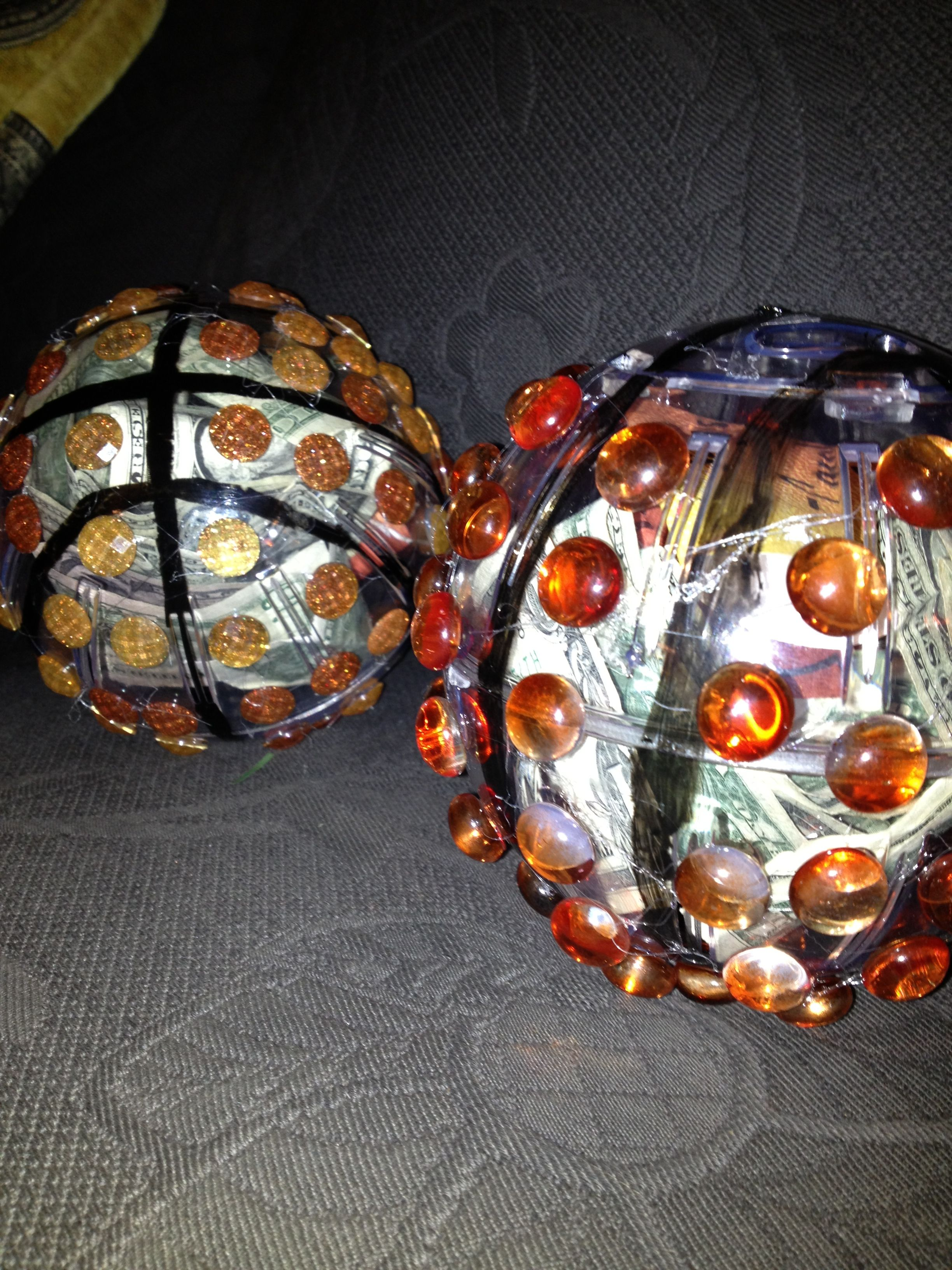 Basketball coaches gifts hamster ball decorated and filled with