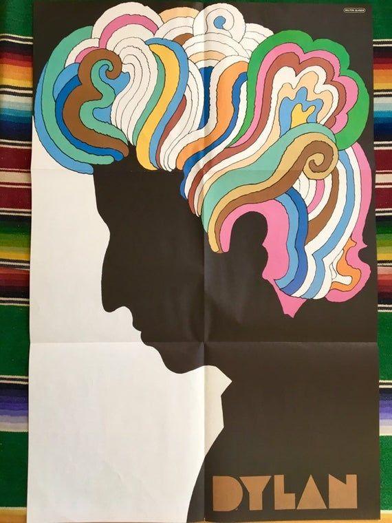 Bob Dylan 1966 Original Pop Art poster Milton Glaser Psychedelic Silhouette