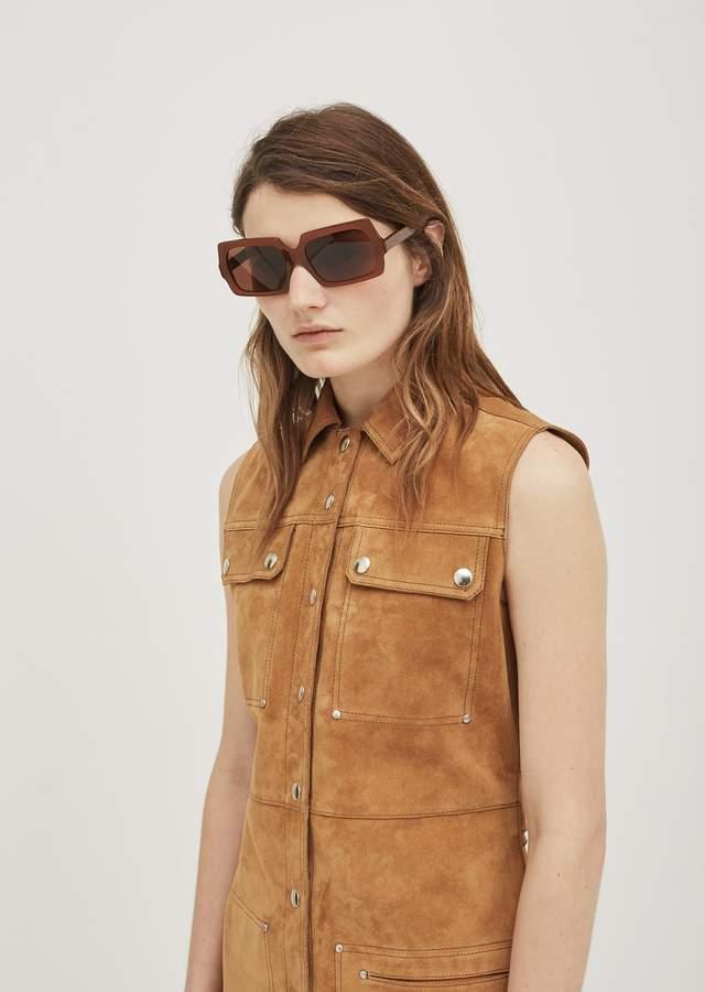 bdaa5b4991 George Large Sunglasses - One Size   Chocolate Brown