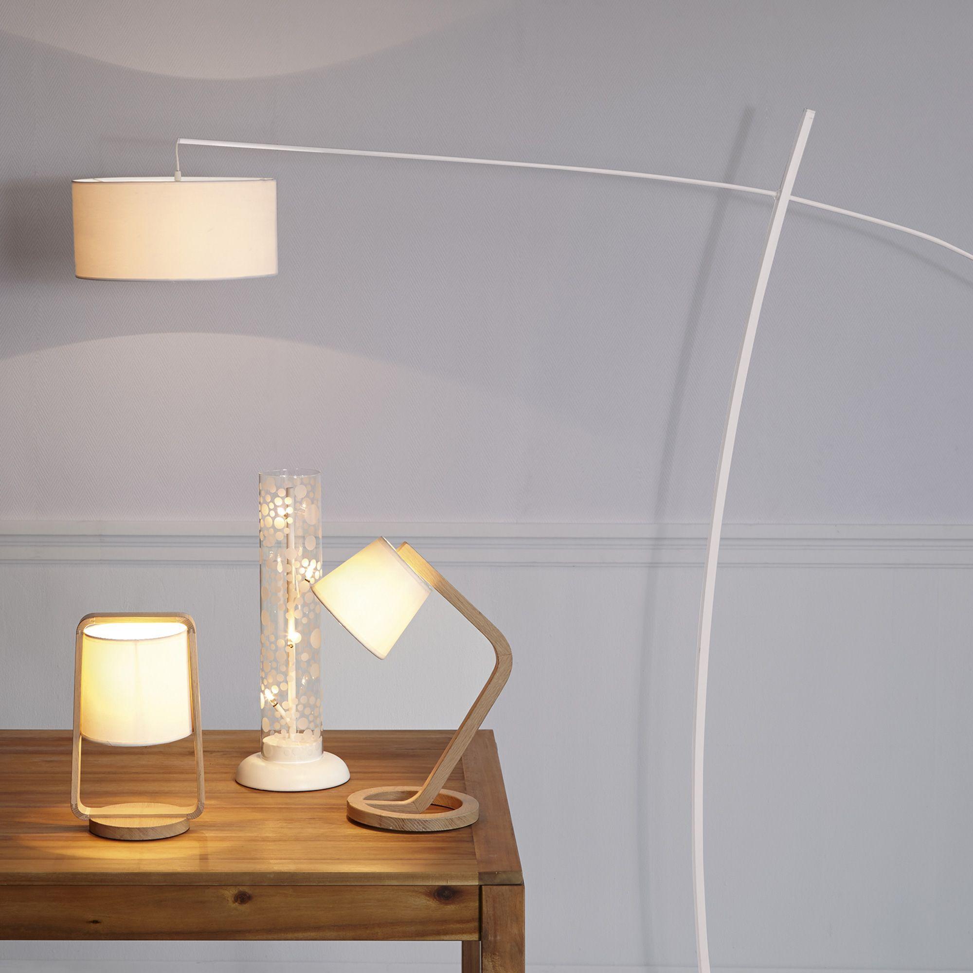 Lampe délicate en chêne legno lampes à poser luminaire chambre par