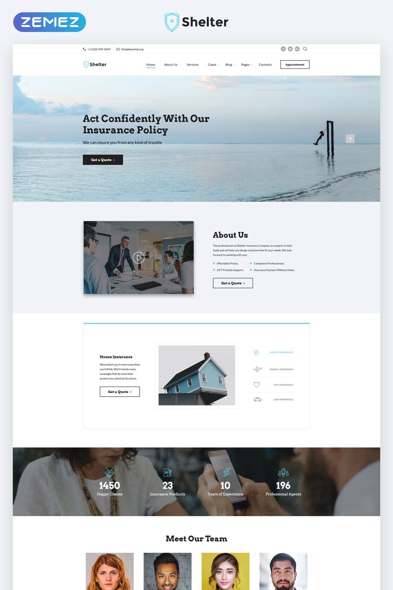 Shelter Insurance Agency Multipage Html5 Website Template