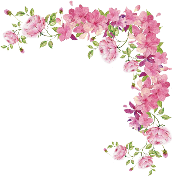 Open Full Size Watercolor Flowers Transparent Pink Flower Border Png Download Transparent Png Image A Flower Border Flower Border Clipart Watercolor Flowers