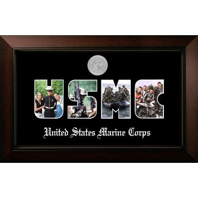 PATF Marine Collage Photo Legacy Picture Frame Color: Silver