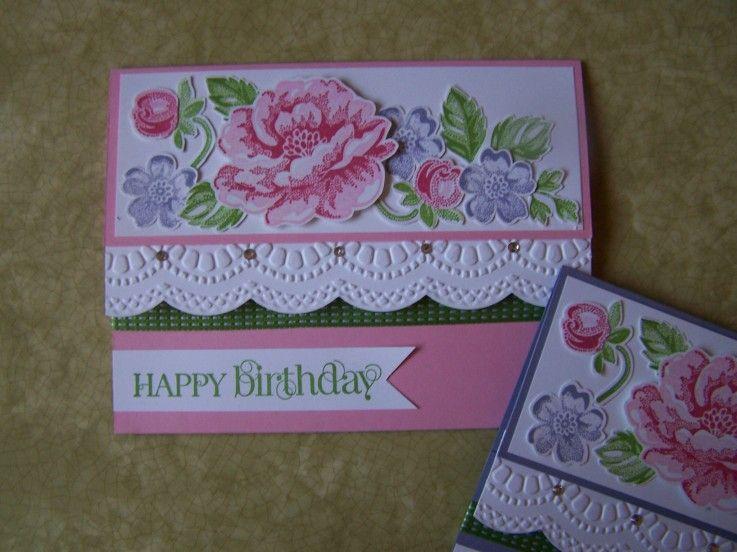 Stippled Blossoms Birthday Wishes