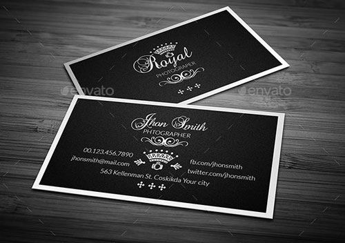 Photographer name Card BEST PHOTOGRAPHER BUSINESS CARDS EXAMPLE - name card