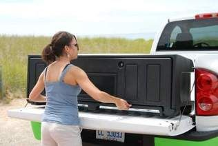 Aerobox Rear Mounted Truck Box Makes Transporting Cargo Easy Ecoological Truck Aftermarket A In 2020 Truck Bed Storage Box Truck Bed Storage Truck Bed Organization
