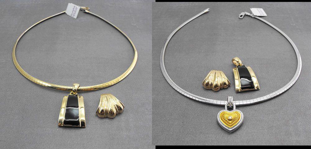 Lia sophia trish new reversible gold silver omega necklace 3 lia sophia trish new reversible gold silver omega necklace 3 pendants aloadofball Choice Image