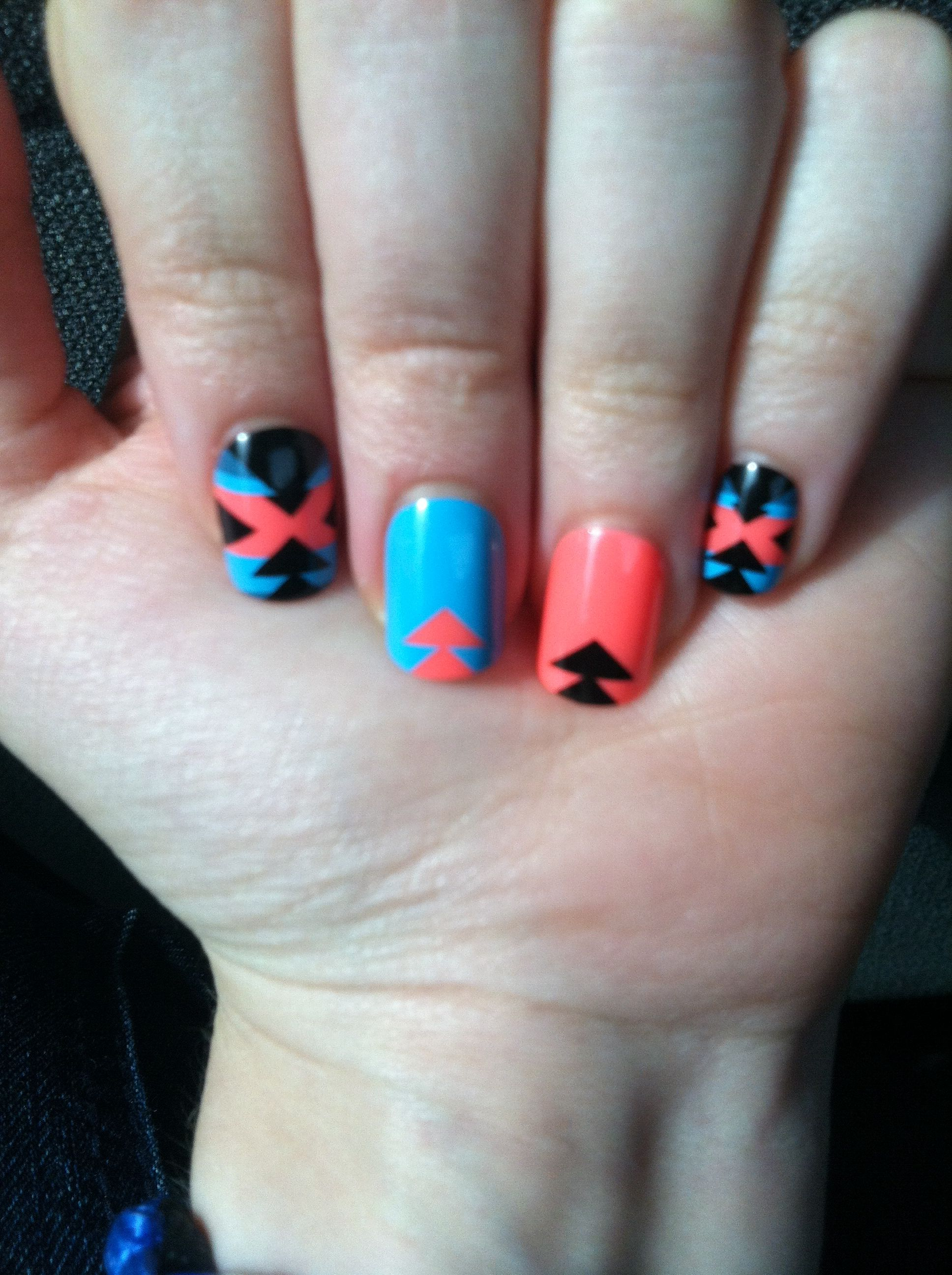 Cute Aztec design, fake nails. from Wal-Mart | Nails | Pinterest ...