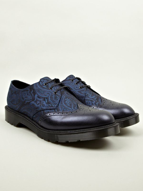 608ec1edf01 Dr Martens Men s Navy Blue MIE Dannon Paisley Silk Shoes