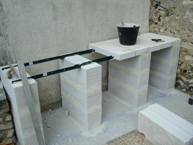 plan de travail exterieur en siporex les meilleures la beton - Pose Beton Cellulaire Exterieur
