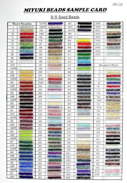 Miyuki Bead Chart
