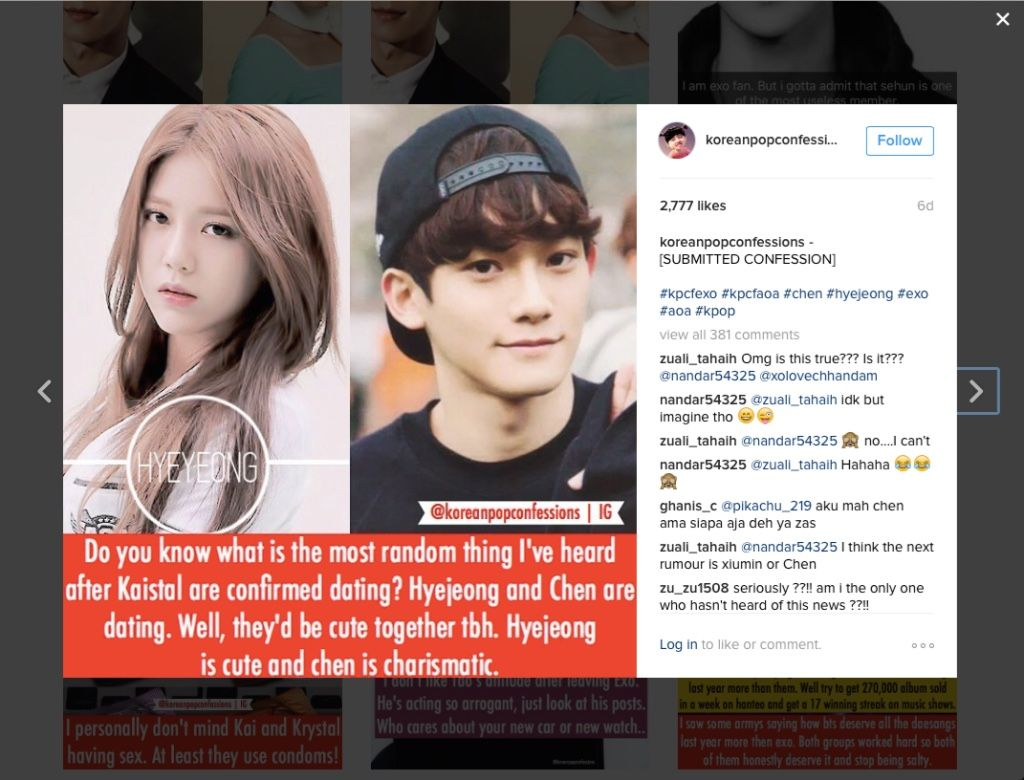 Exo dating rumours : Over 50 fabulous dating