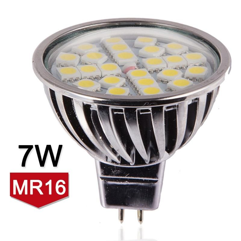 High Quality Mr16 Led Lamp 7w 12v Led Spotlight Smd5050 Dimmable Bombillas Led Light Aluminum Warm Cold White Led Spot L Light Bulb Lamp Led Spotlight Led Bulb