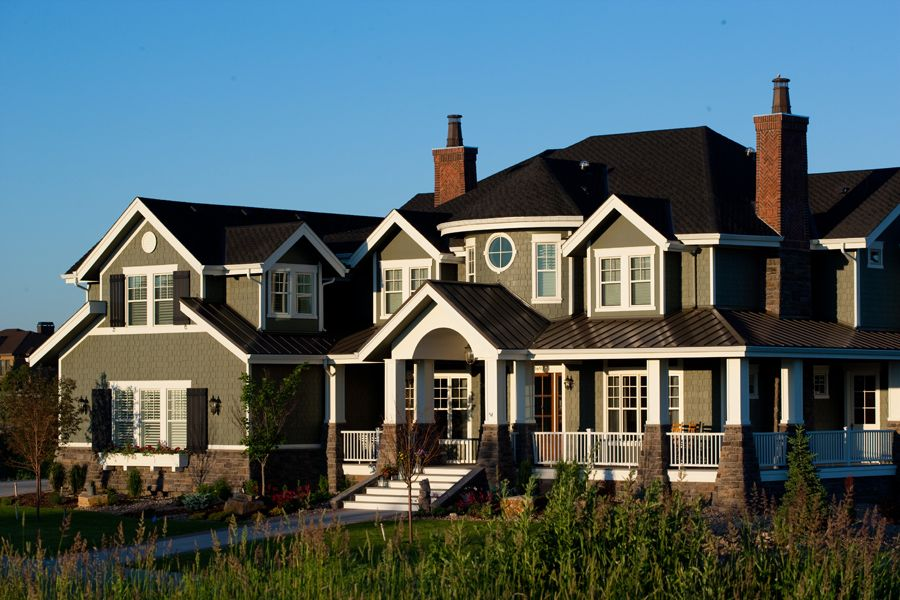 marvelous craftsman luxury homes #2: Plan 9543RW: Three Levels of Luxury