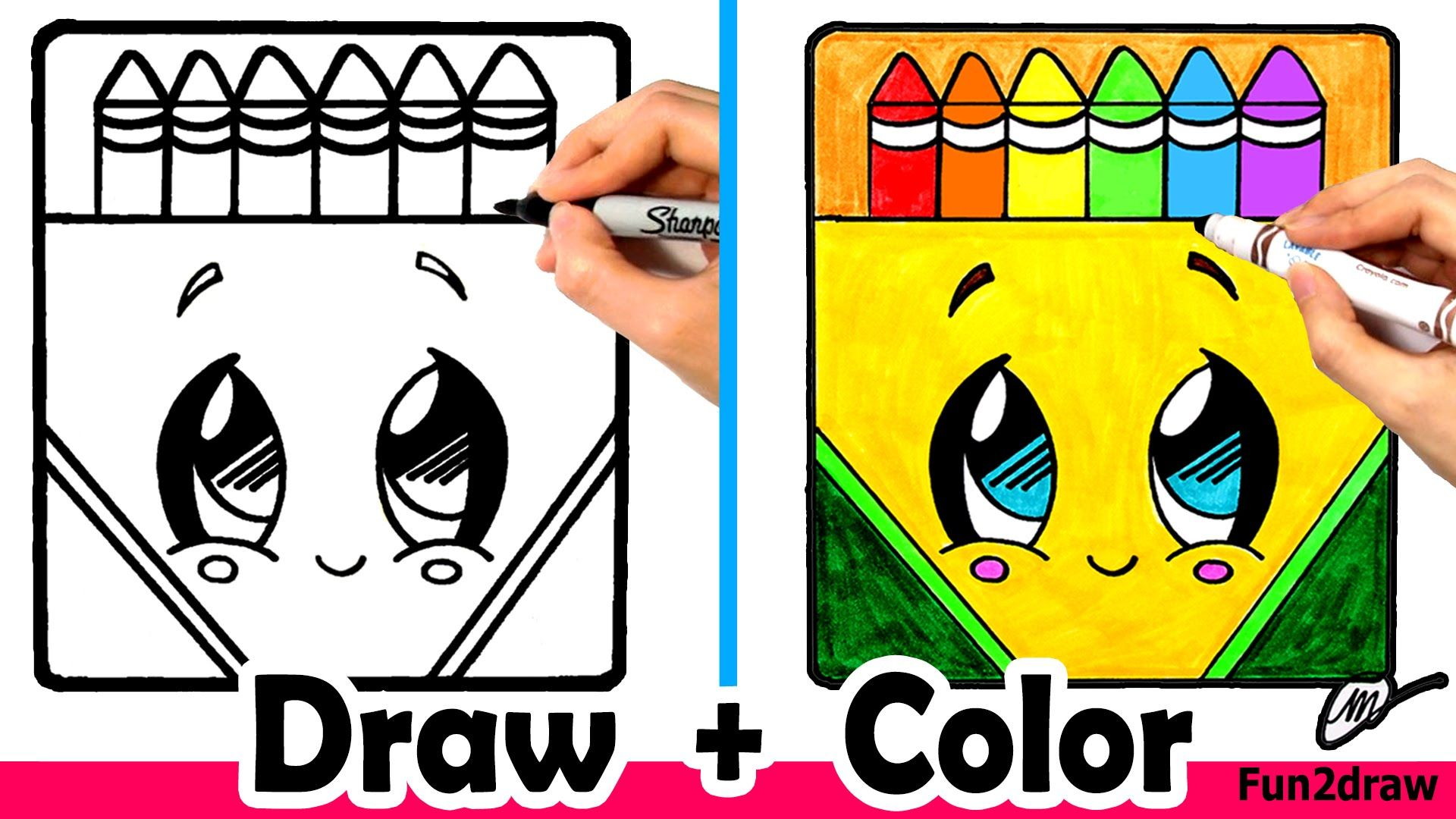 How To Draw A Crayon Box Cute Easy Can You Draw Nail