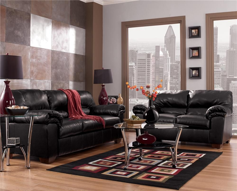 Commando Black Living Room Set Signature Design By Ashley