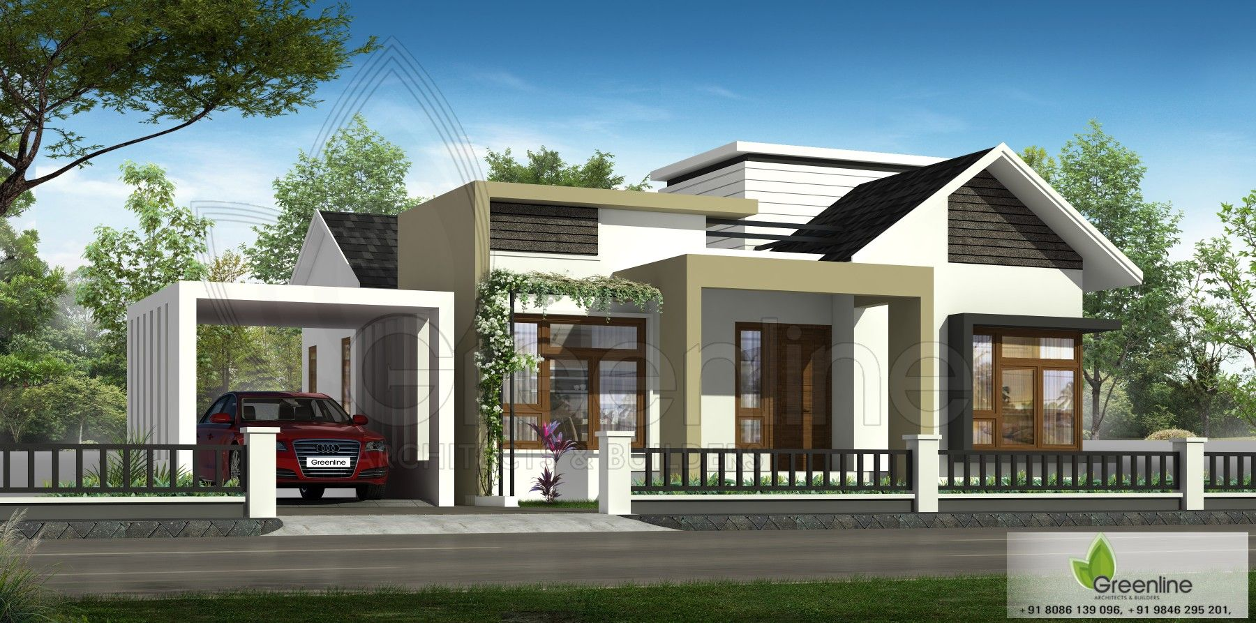 Unique single floor house design | Kerala house design ...