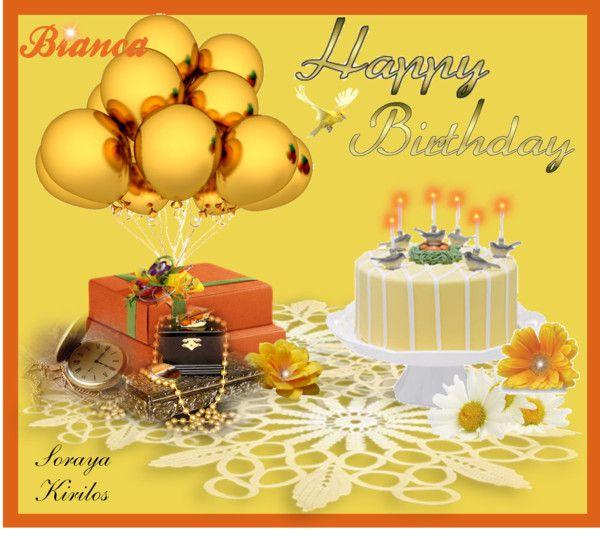"""Feliz aniversário Bianca! (Happy birthday Bianca!)"" by sorayakirilosbdaysep12 ❤ liked on Polyvore"