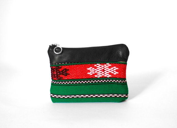 Boho Pine Green Leather Phone Wallet / Leather Clutch / by morelle, $19.00