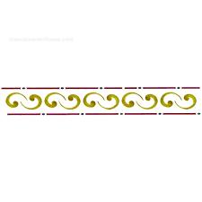 Resultado de imagen para dibujos de cenefas de flores para pintar