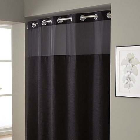 Access Denied Black Shower Curtains Fabric Shower Curtains
