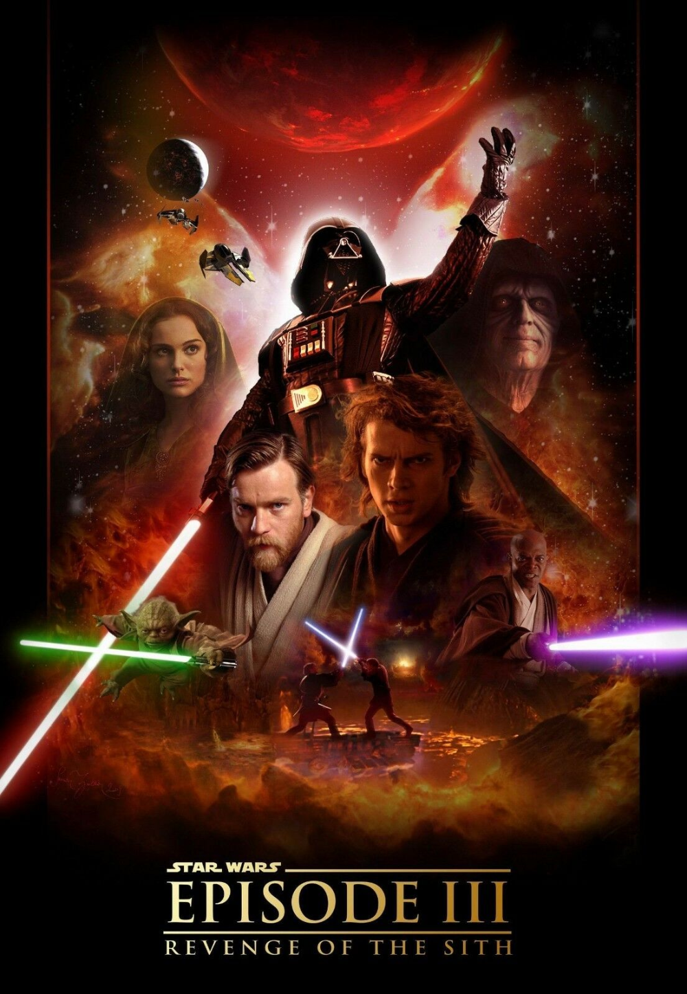 Details about Star Wars Poster * Revenge of the Sith * Episode III * Reprint * 13 x 19