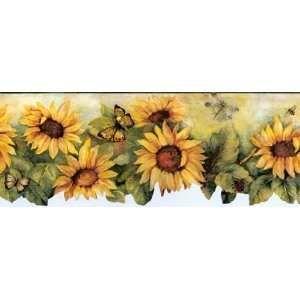 Sunflower Wallpaper Border Kitchen Www Smscs Com Sunflower Wallpaper Wallpaper Border Wallpaper Border Kitchen