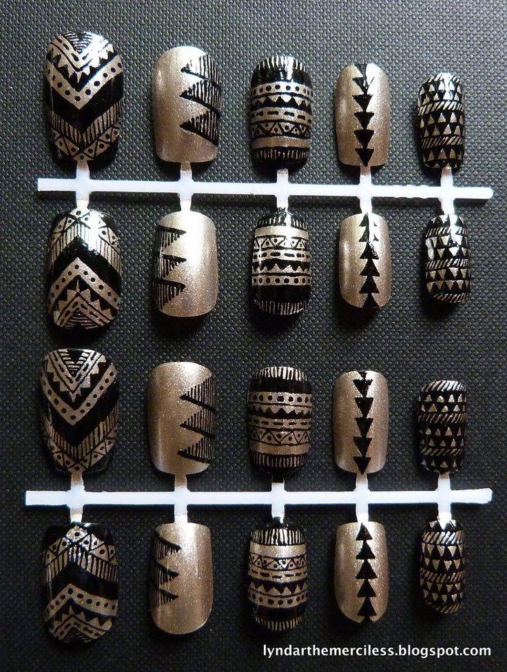 Knstliche ngel 5 besten black gold artificial nails and knstliche ngel 5 besten prinsesfo Choice Image