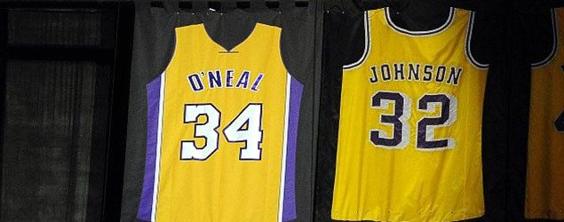 Shaquille O Neal S Retired Lakers Jersey Is Backward And It S Not Supposed To Be Shaquille O Neal Lakers Jersey