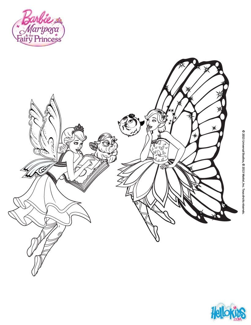 Barbie Mariposa Coloring Sheet More Sheets On Hellokids