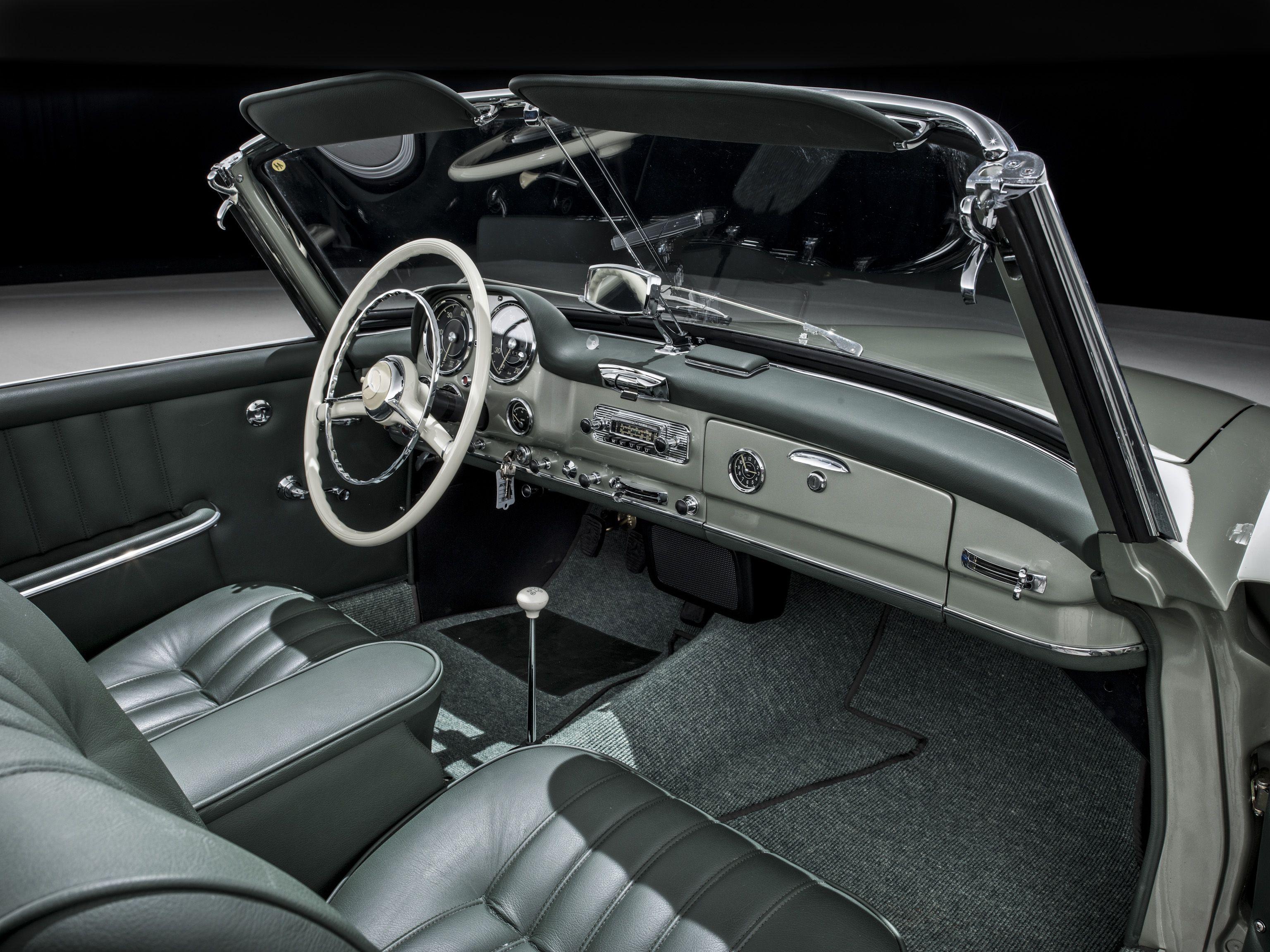 Mercedes Benz 190 SL innenraum armaturenbrett | 190 sl colori ... | {Armaturenbrett oldtimer 32}