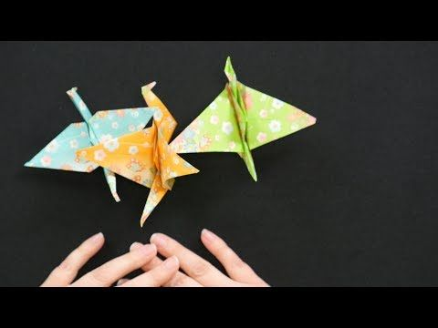 How To Make An Origami Crane Video Favecrafts Origami