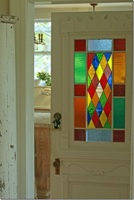 Would Always Be Happy Walking Through This Door Stained Glass