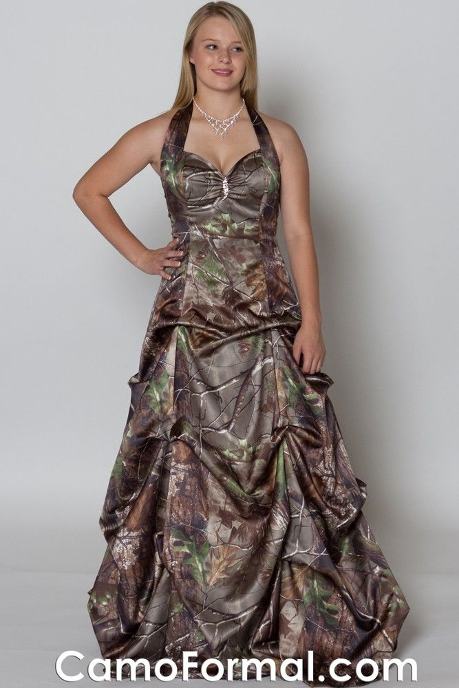 3042 Realtree HD AP Green with champagne sash | wedding dresses ...