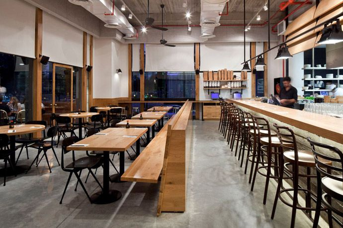 industrial style restaurant furniture. Industrialrestaurantdesign Loft With Industrial Design And A Kitchen Look Style Restaurant Furniture